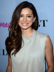 Noureen DeWulf's feathered waves looked oh-so-lovely at the People StyleWatch Denim Awards.