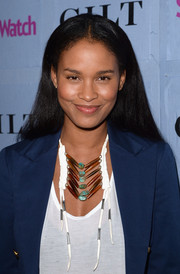 Joy Bryant opted for a simple center-parted 'do when she attended the People StyleWatch Denim Awards.