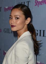 Jamie Chung topped off her look with a sweet side-parted ponytail when she attended the People StyleWatch Denim Awards.