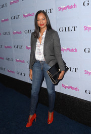 Garcelle Beauvais' tight jeans added some sexiness to her business-chic top at the People StyleWatch Denim Awards.