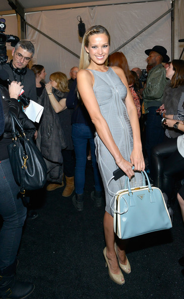 Petra Nemcova Leather Bowler Bag