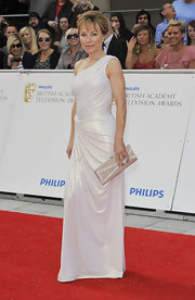 Sian Williams was a glamorous sight at the 2011 British Academy Television Awards in her white grecian gown.