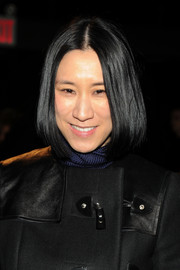 Eva Chen wore her bob with a center part during the Philosophy by Natalie Ratabesi fashion show.