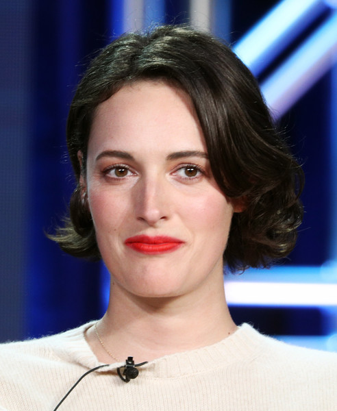 Phoebe Waller-Bridge Curled Out Bob [television show,hair,face,eyebrow,hairstyle,lip,chin,forehead,cheek,beauty,nose,winter tca,phoebe waller-bridge,fleabag,pasadena,california,the langham huntington,amazon prime video visionary voices,segment,winter television critics association press tour]