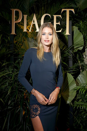 Doutzen Kroes attended the Piaget dinner during SIHH 2018 wearing some gold bangles from the brand.
