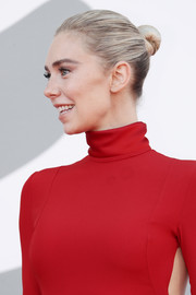 Vanessa Kirby kept it classic with this sleek bun at the Venice Film Festival screening of 'Pieces of a Woman.'