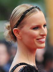 Karolina donned a black beaded headband with her Chanel dress for the Cannes Film Festival.