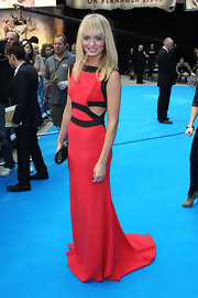 Laura Haddock made a bold turn on the 'Pirates of the Caribbean: On Stranger Tides' blue carpet in this black and red cut-out dress.