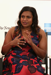 Mindy Kaling wore an eye-catching diamond ring at the 'Inside Out' panel discussion during the Cannes Film Festival.