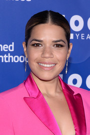 America Ferrera kept it minimal with this tight, center-parted ponytail at the Planned Parenthood 100th anniversary gala.