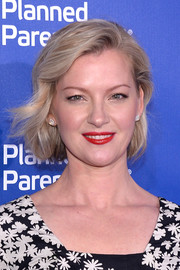 Gretchen Mol looked lovely with her bob at the Planned Parenthood 100th anniversary gala.