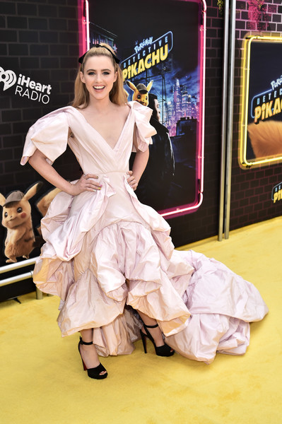 Kathryn Newton finished off her look with chunky black platforms by Christian Louboutin.
