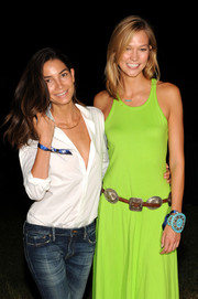 Karlie Kloss attended the Polo Ralph Lauren fashion show wearing an eye-catching turquoise cuff bracelet.