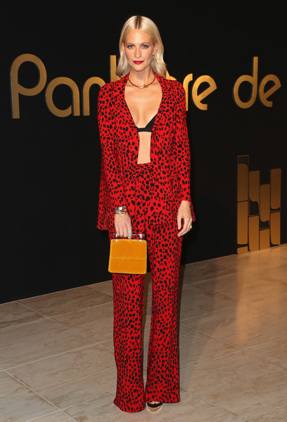 Poppy Delevingne Velvet Bag