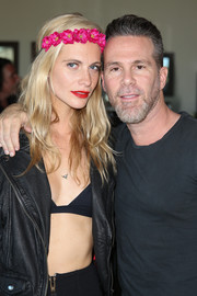 Poppy Delevingne was hippie-chic wearing this flower headband during the Superdry Coachella brunch.