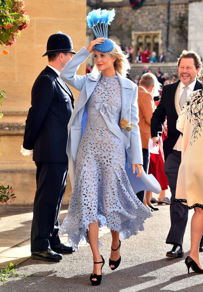 Poppy Delevingne Wool Coat [eugenie of york,jack brooksbank,poppy delevingne,lady,fashion,suit,tradition,dress,headgear,outerwear,girl,event,haute couture,wedding,england,windsor,st. georges chapel]