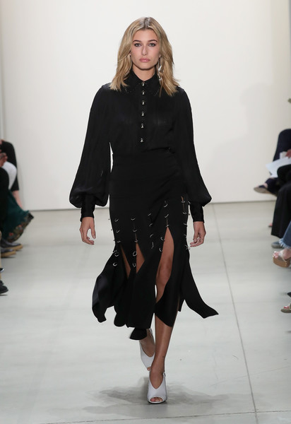 Hailey Baldwin at Prabal Gurung