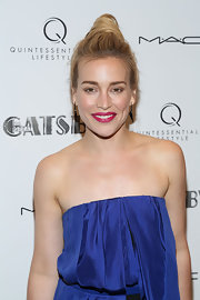 Piper Perabo chose casual twisted bun for her look at the NYC screening of 'The Great Gatsby.'
