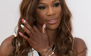 Serena Williams finished off her pre-Wimbledon party look with colorful and fun-looking nail art.