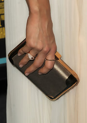 Abigail Spencer's metallic clutch gave her ethereal look that magical finish it needed.