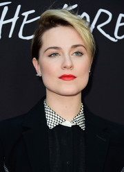 Evan Rachel Wood looked cool with her side-parted short 'do at the premiere of 'Into the Forest.'