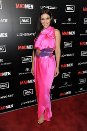 Carla Ortiz made a statement in this 'Aladin' inspired dress at the 'Mad Men' season premiere.