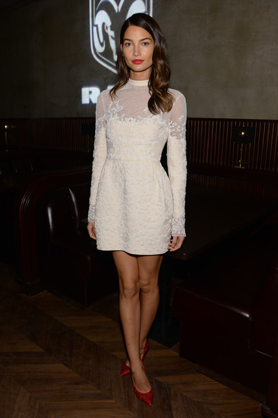 Embroidery and Mesh Like Lily Aldridge