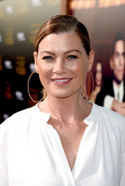 Ellen Pompeo sported a sleek side-parted ponytail at the premiere of 'The Last Tycoon.'