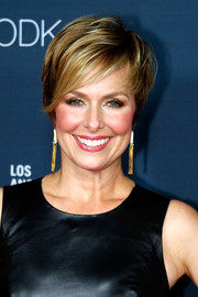 Melora Hardin showed off a chic layered razor cut at the premiere of 'Transparent' season 2.