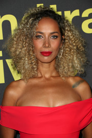 Leona Lewis wore her hair in tight, voluminous curls at the premiere of 'Clive Davis: The Soundtrack of Our Lives.'