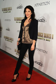 Jaime Murray showed off her classic pumps while hitting All Saints Day.