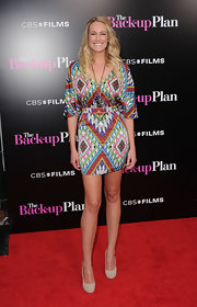 Ashlan showed off this tribal-inspired print dress. Her frock was fun funky and on-trend.