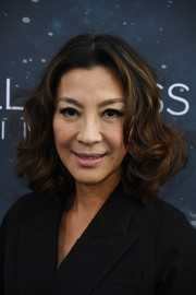 Michelle Yeoh looked sweet with her curly bob at the premiere of 'Star Trek: Discovery.'