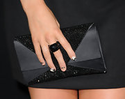 Alexa Vega donned a black crystal cocktail ring for the '30 Minutes or Less' premiere.