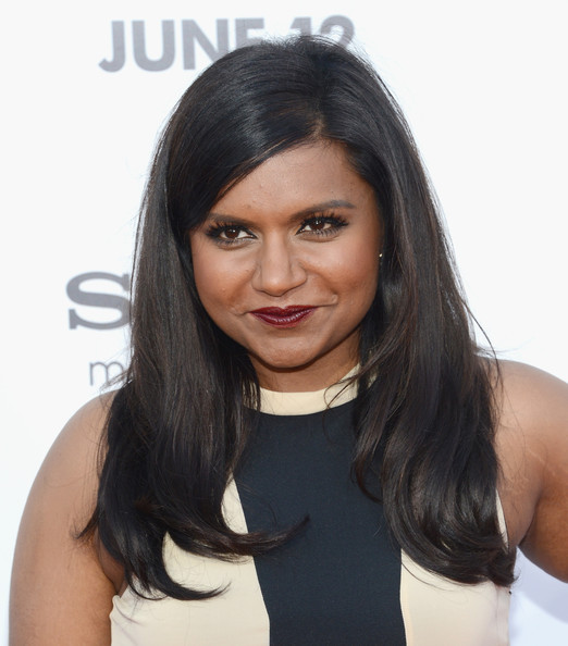 More Pics of Mindy Kaling Long Straight Cut (1 of 5) - Mindy Kaling Lookbook - StyleBistro