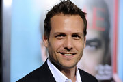 Gabriel Macht seems happy with his fauxhawk. We are, too!
