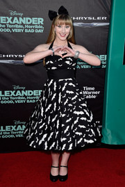 Tara-Nicole Azarian sure had fun with her look during the 'Alexander and the Terrible, Horrible, No Good, Very Bad Day' premiere, where she sported this '50s-meets-goth bat-print dress.