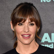 Jennifer Garner's Ponytail With Rounded Bangs