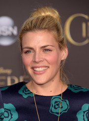 Busy Philipps swept her hair back into a voluminous bun for the Hollywood premiere of 'Cinderella.'