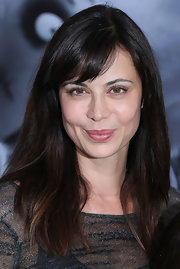 Catherine Bell styled her hair in a simple straight cut with bangs for the premiere of 'Frankenweenie.'