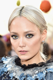 Pom Klementieff looked like Queen Elsa with her platinum-blonde braid at the premiere of 'Guardians of the Galaxy Vol. 2.'