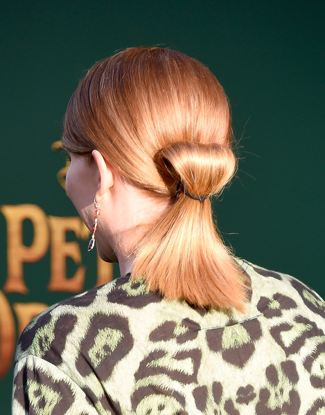 Bryce Dallas Howard gave us hair envy with this twisty ponytail she wore to the premiere of 'Pete's Dragon.'