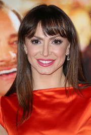 Karina Smirnoff wore her hair straight with wispy bangs when she attended the premiere of 'Saving Mr. Banks.'