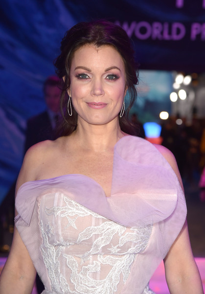 More Pics of Bellamy Young Strapless Dress (1 of 3) - Bellamy Young Lookbook - StyleBistro [a wrinkle in time,hair,lady,beauty,skin,shoulder,purple,fashion,lip,smile,premiere,red carpet,bellamy young,california,los angeles,el capitan theatre,disney,premiere,premiere]