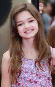 Ciara Bravo completed her girly look with a side-parted wavy 'do at the 'Kung Fu Panda 2' premiere.