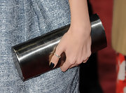 Debby wore a silver thumb ring with her ensemble for a subtle elegant touch.
