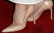 Vera Farmiga opted for classic nude pumps for her red carpet look at the 'Bates Motel.'