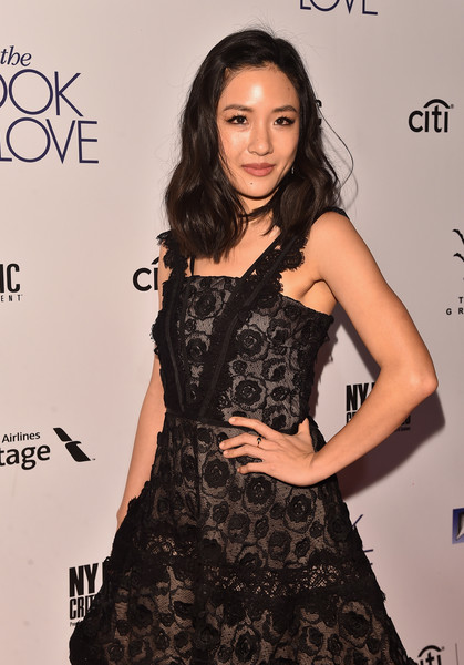 More Pics of Constance Wu Medium Wavy Cut (4 of 10) - Constance Wu Lookbook - StyleBistro [the book of love,the book of love,clothing,dress,fashion model,hairstyle,fashion,beauty,shoulder,long hair,eyelash,cocktail dress,constance wu,arrivals,california,los angeles,the grove,electric entertainment,premiere]