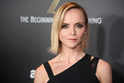 Christina Ricci sported a short, asymmetrical hairstyle at the premiere of 'Z: The Beginning of Everything.'