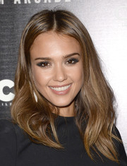 Jessica Alba looked gorgeous wearing her hair with a center part and high-volume layers at the 'A.C.O.D.' premiere.